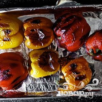 Запеченный болгарский перец с каперсами и Моцареллой - фото шаг 1