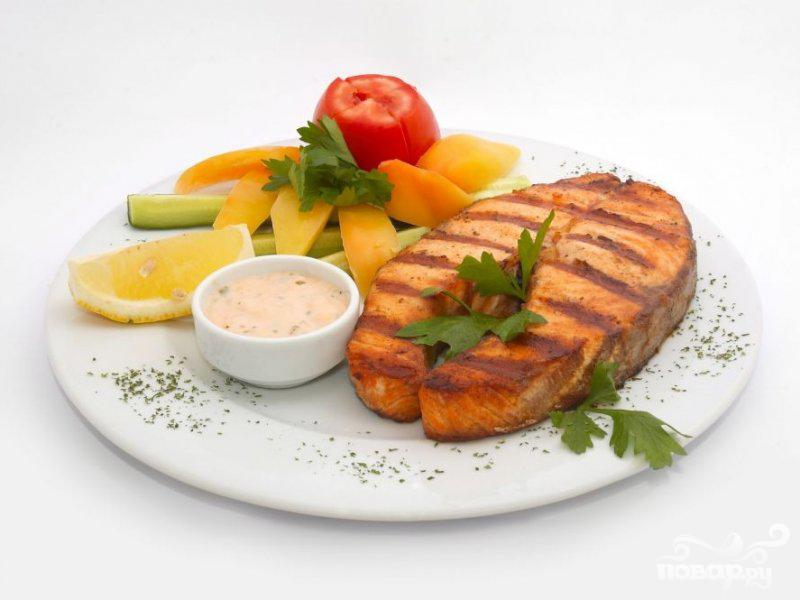 Рецепт Рыба-меч с зеленью и лимонной цедрой