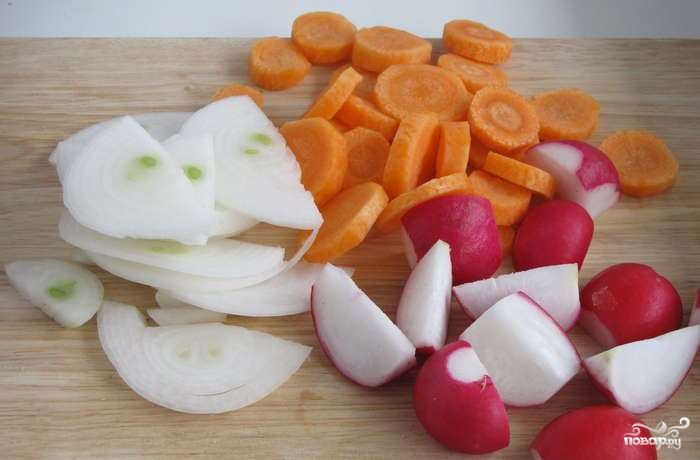 Индейка с овощами на сковороде - фото шаг 2