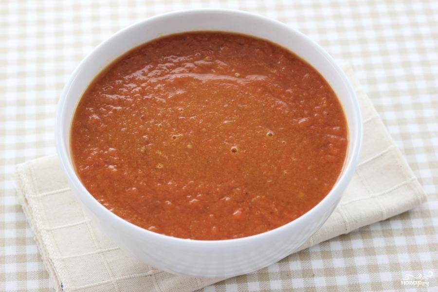 Горячий томатный суп - фото шаг 8