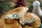 Манзари (пирожки с творогом и зеленью)