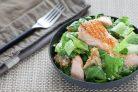 Салат с семгой (рецепт)