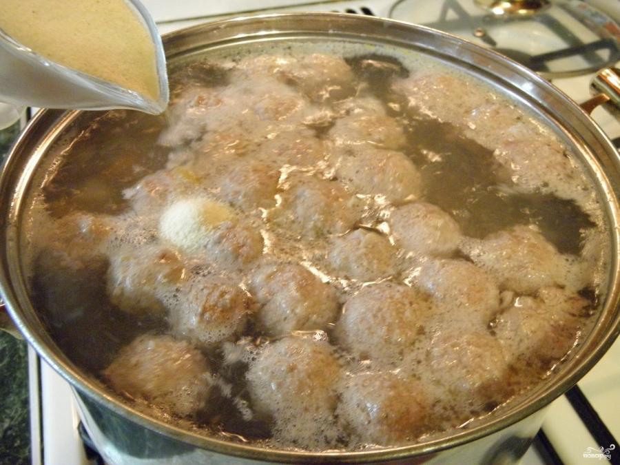 Картофельный суп с фрикадельками - фото шаг 6