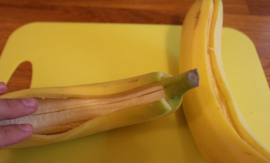 Печеный банан с медом - фото шаг 3