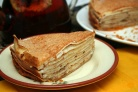 Блинный торт с мёдом