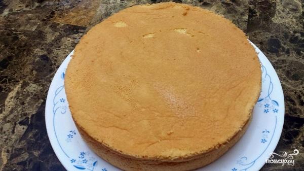 Бисквит с белковым кремом рецепт с фото