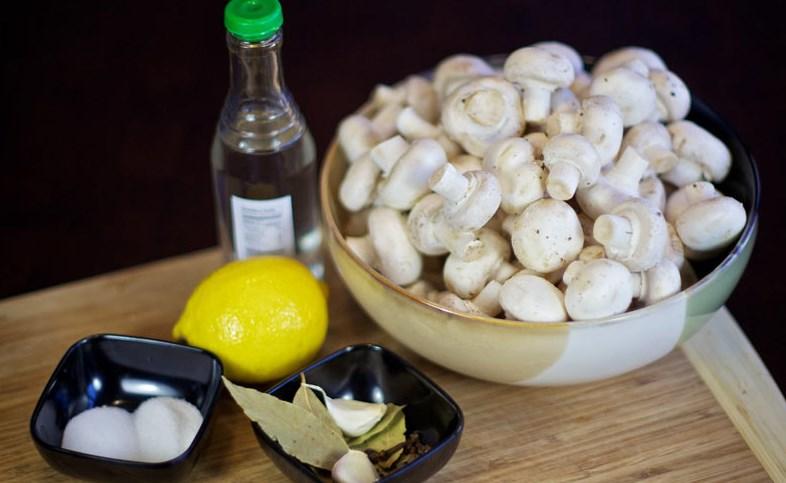 Рецепт Маринованные шампиньоны быстрого приготовления