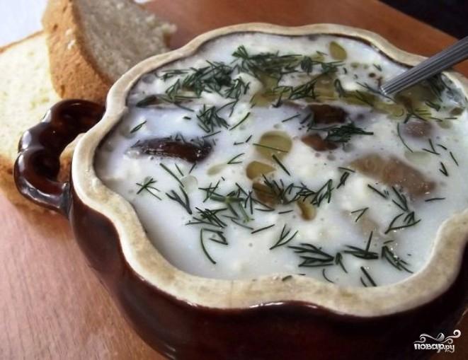 Классический грибной суп