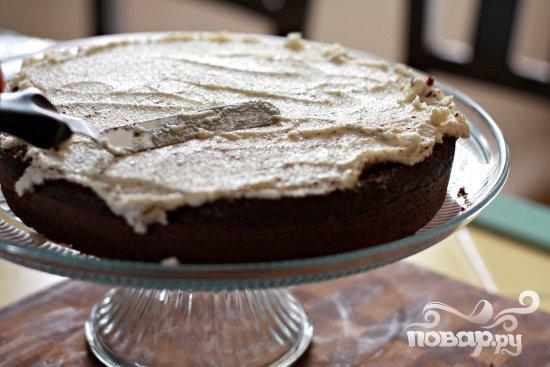 Шоколадный торт со сливочной глазурью - фото шаг 5