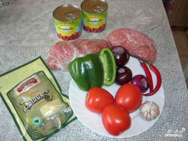 Суп чили с фасолью - фото шаг 1