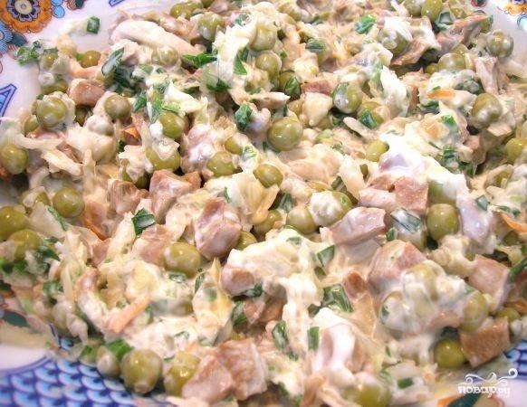 Салат по-деревенски с грибами - фото шаг 6
