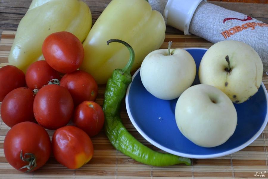 Аджика с яблоками и помидорами на зиму - фото шаг 1