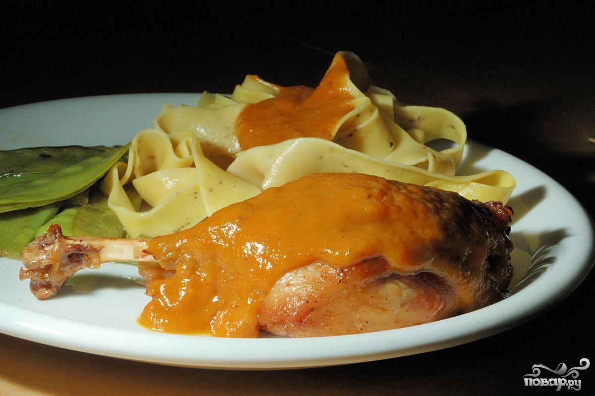 Рецепт Утиные ножки в абрикосовом соусе