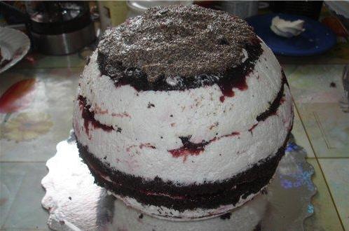 """Торт """"Волейбольный мяч"""" - фото шаг 1"""