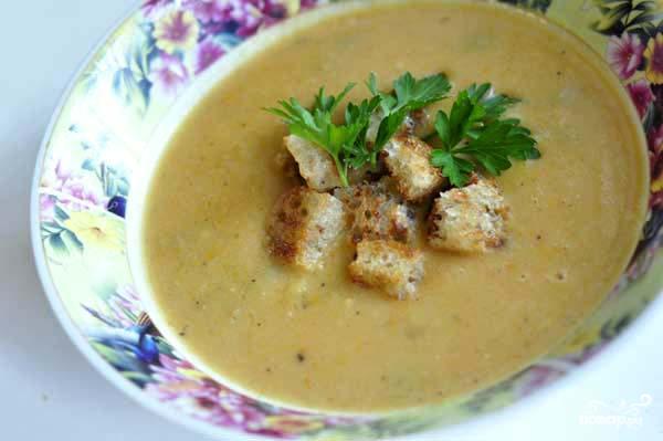 Гороховый суп-пюре с оливками - фото шаг 6