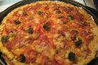 Пицца в духовке (тесто на сметане)