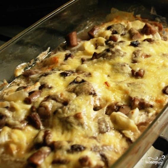 Рецепт Свиной язык запеченный с анчоусами и сыром