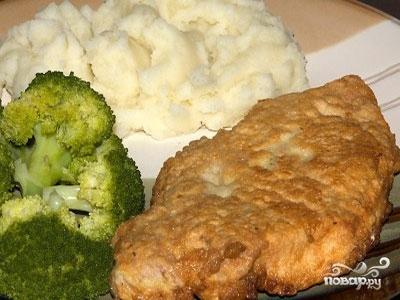 Мясо в тесте на сковороде