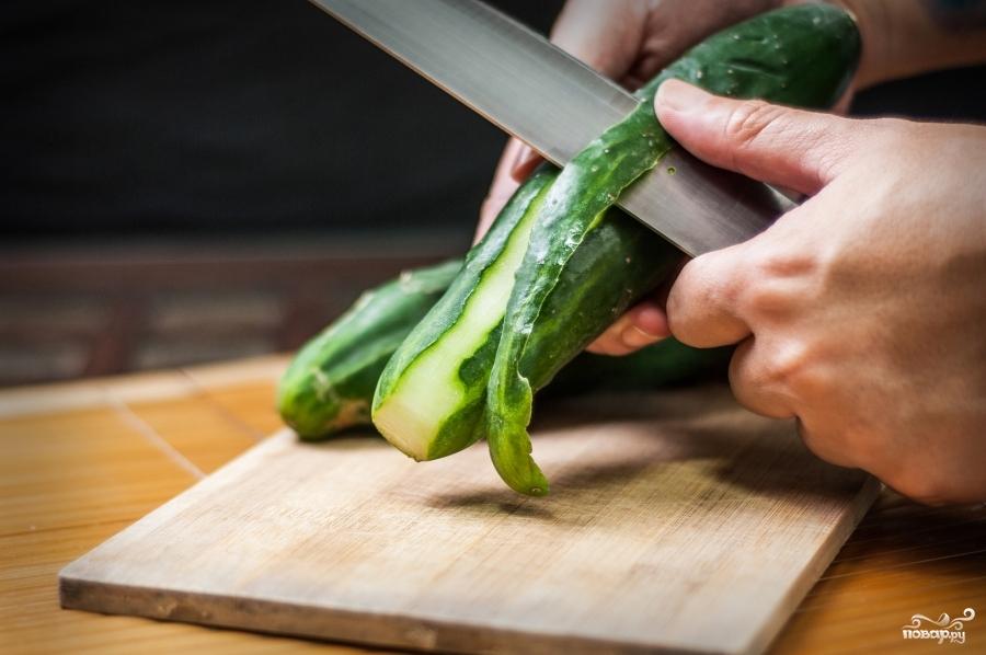 Рецепт Закуска из свежих огурцов