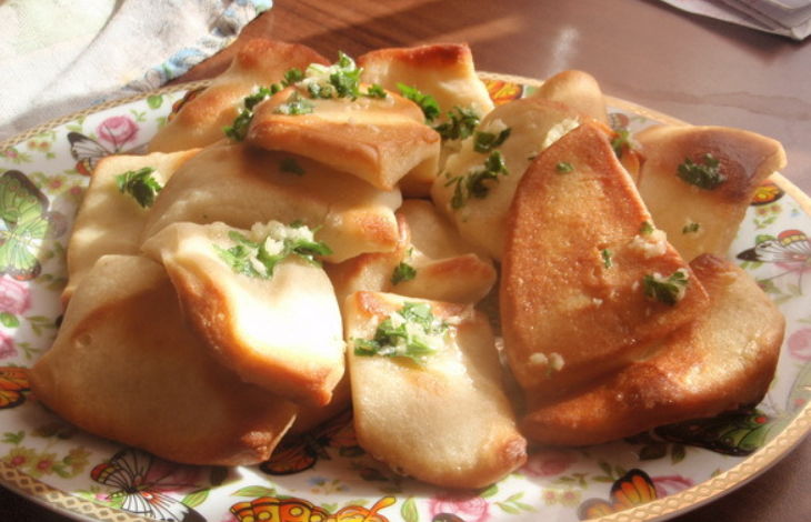 Пампушки с чесноком без дрожжей рецепт с пошагово