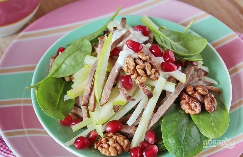 Как приготовить салат с языка