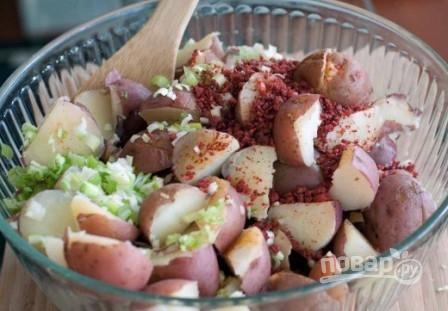 Картофельный салат с сыром - фото шаг 7