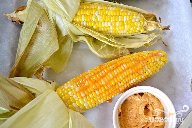 Кукуруза с соусом - фото шаг 3