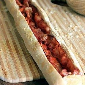 Запеченный багет на завтрак - фото шаг 7