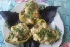 Перец, фаршированный грибами и сыром