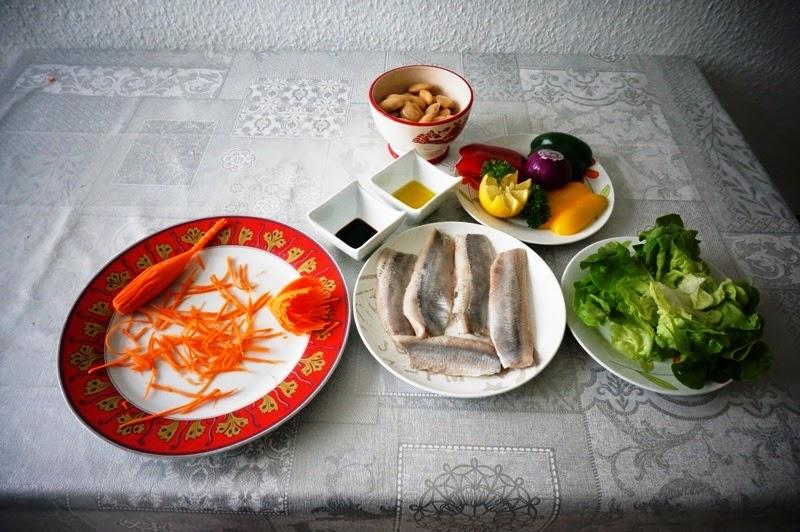 Рецепт Овощной салат с филе сельди