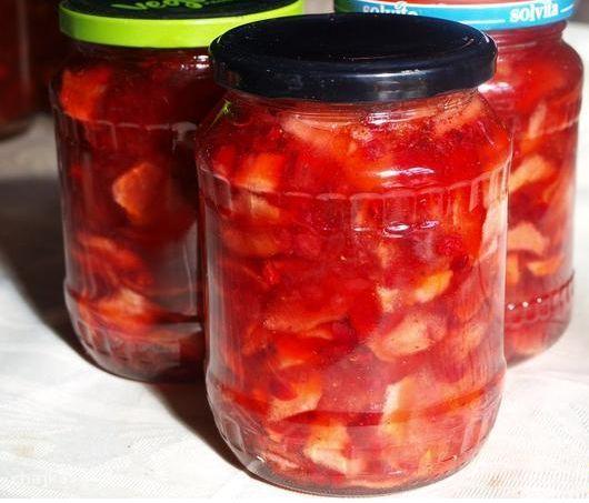 Варенье из яблок с брусникой - фото шаг 5