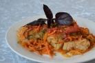 Треска, запеченная в духовке под соусом
