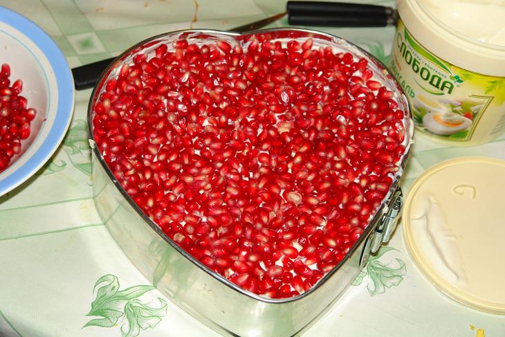 Как сделать сердце для салата 891