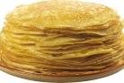Тесто на блины на кефире