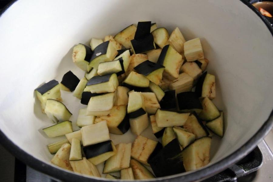 Рецепт Баклажаны с кабачками тушеные