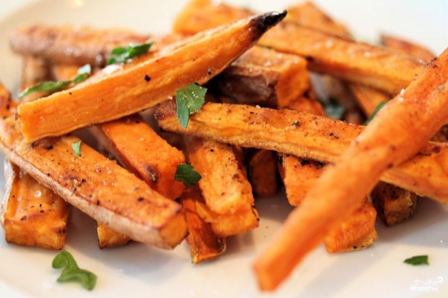 Рецепт Запеченный сладкий картофель с шалфеем и орехами
