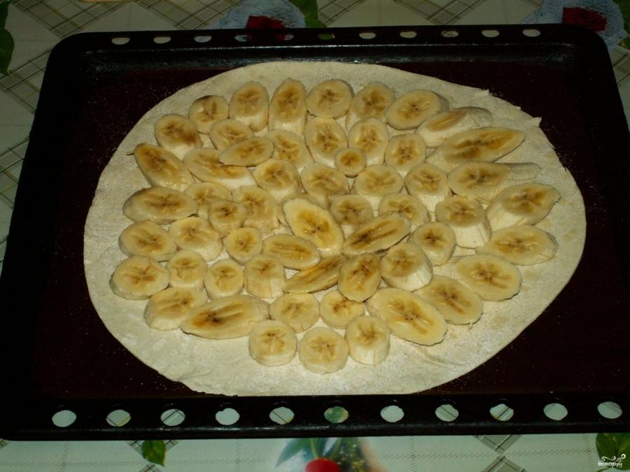 Банановый пирог из слоеного теста - пошаговый рецепт с фото на 69