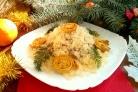 Новогодний салат Кукареку
