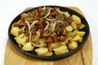 Картофель с маринованными грибами