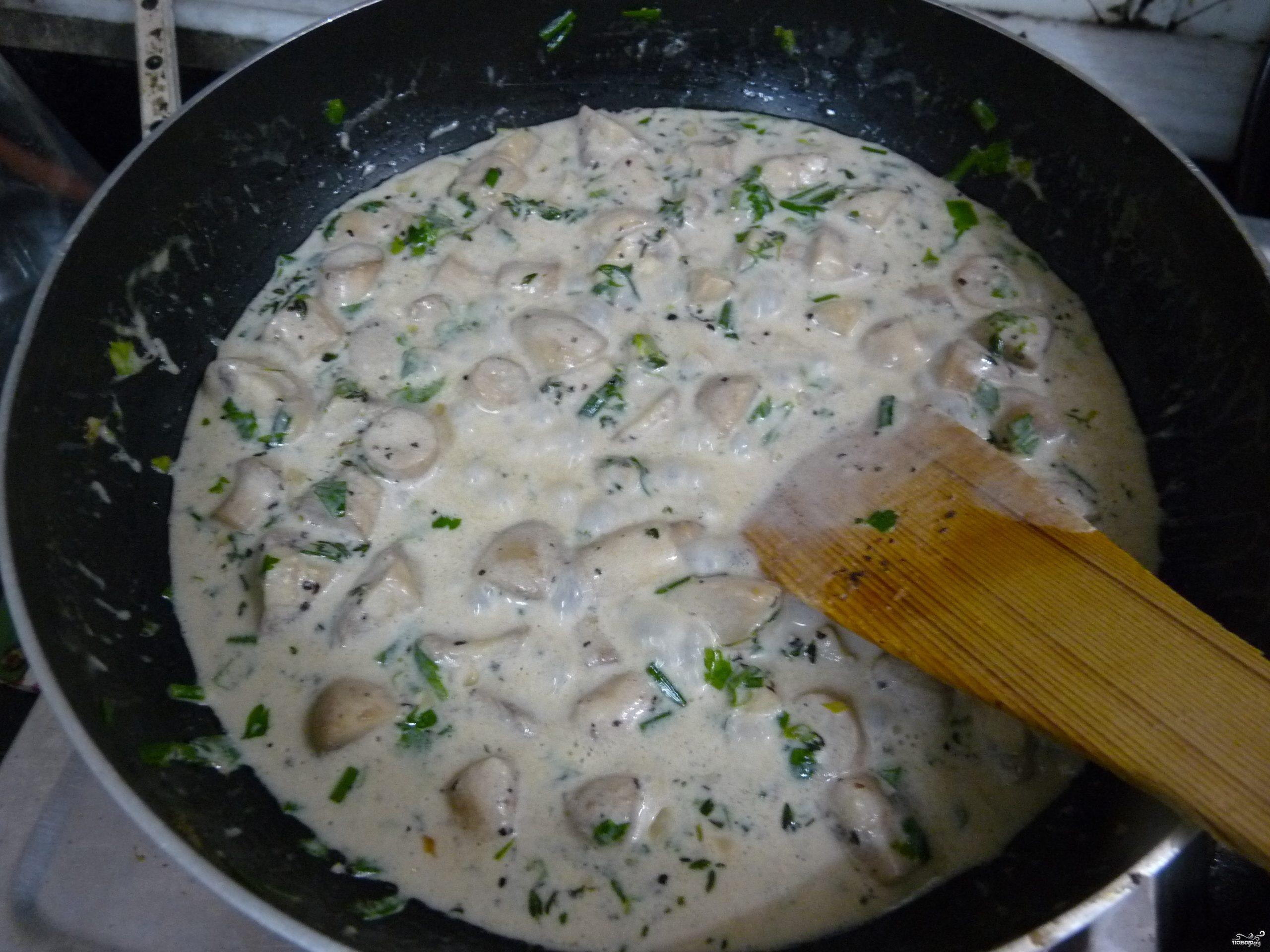 Рецепт Дождевики со сметаной