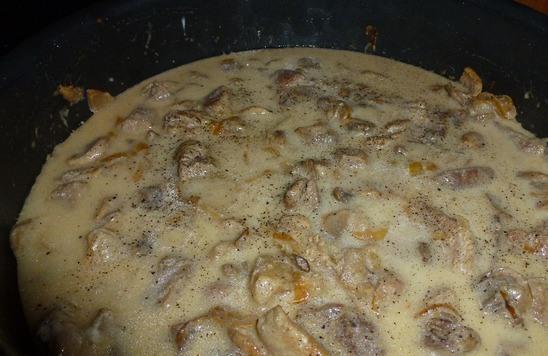 Мясо с грибами в сметанном соусе рецепт с фото в мультиварке