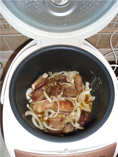 Картофель вкусный с ребрышками в мультиварке - фото шаг 2