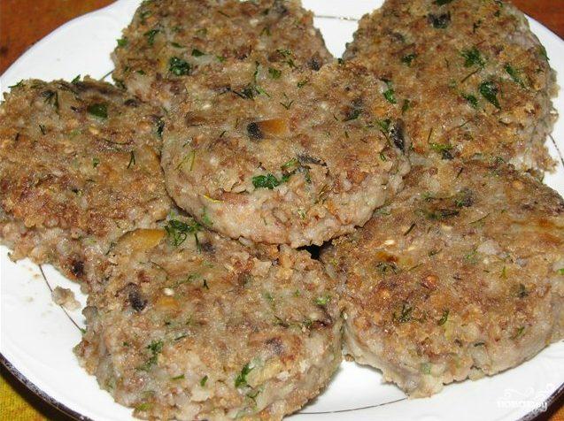 котлеты из гречки с грибами постные рецепт с фото