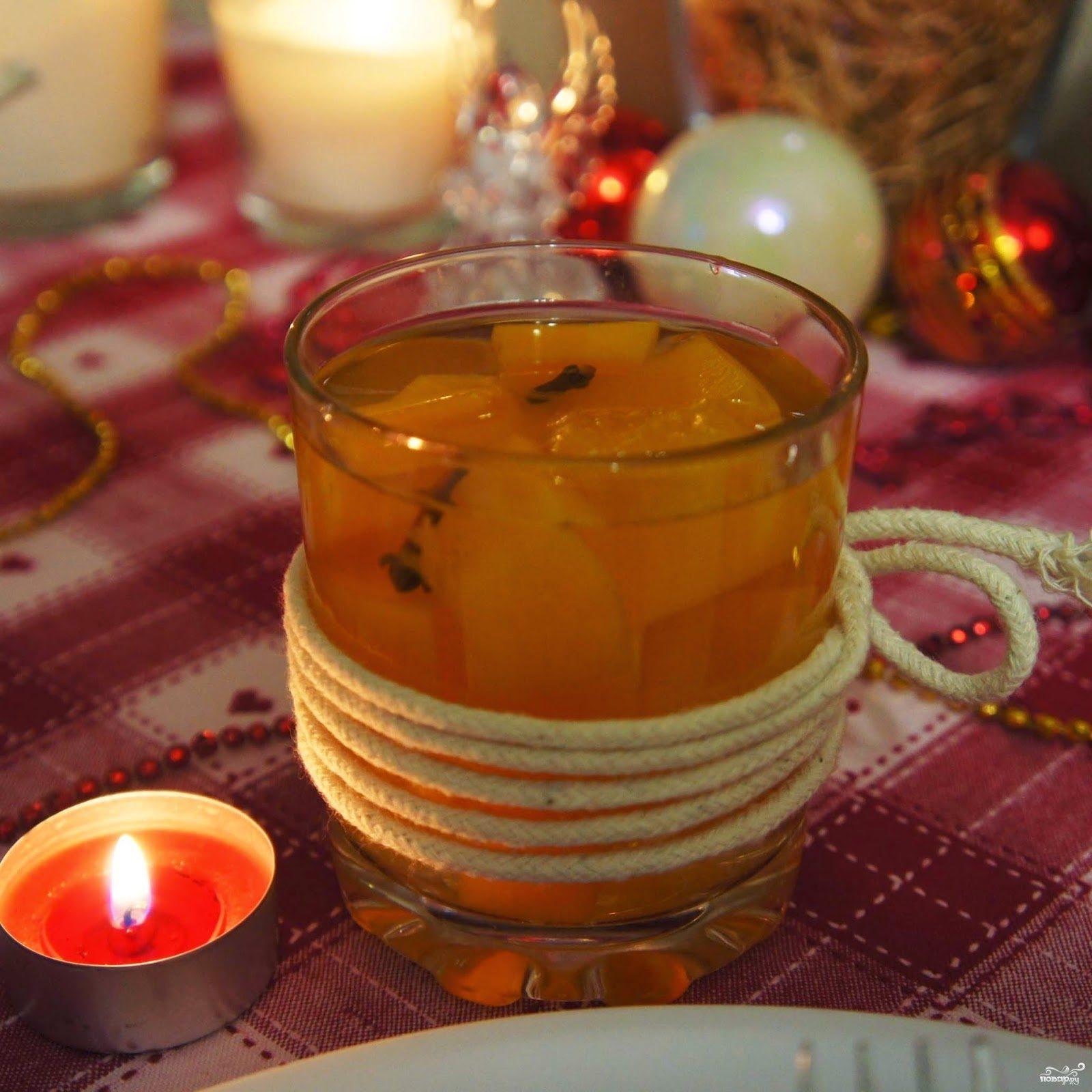 Рецепт Компот из тыквы с апельсином