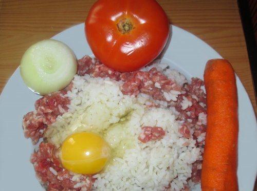 Рецепт Ежики на сковороде