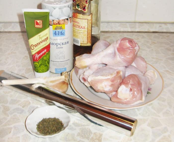 Рецепт Куриные ножки в фольге