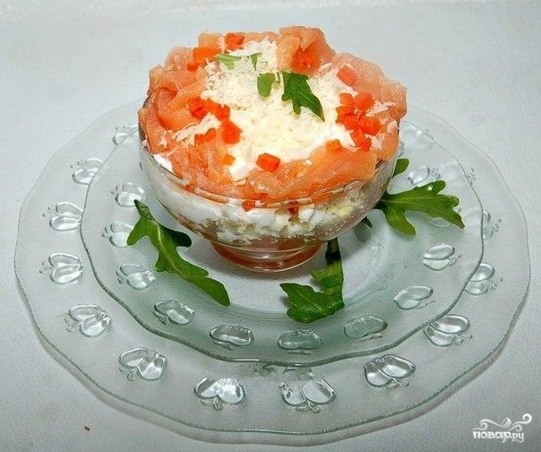 Салат с форелью - фото шаг 4