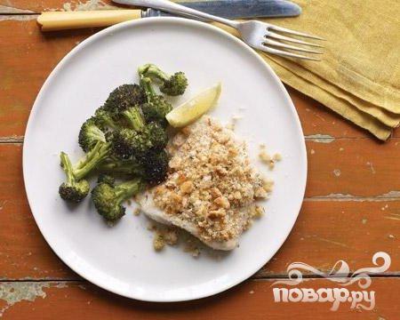 Рецепт Запеченная рыба с брокколи