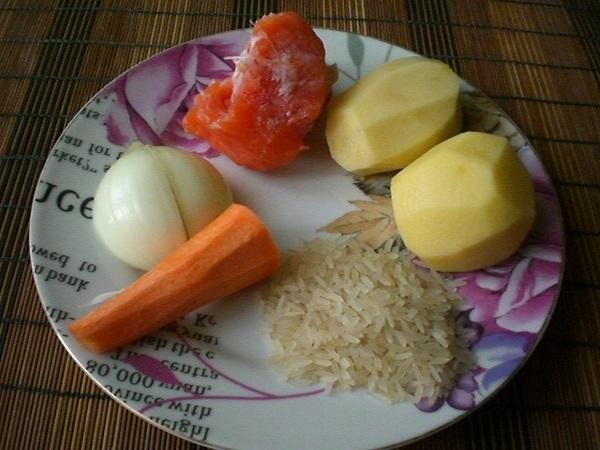 Рецепт Суп из соленой красной рыбы