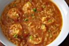 Суп с рисом и креветками
